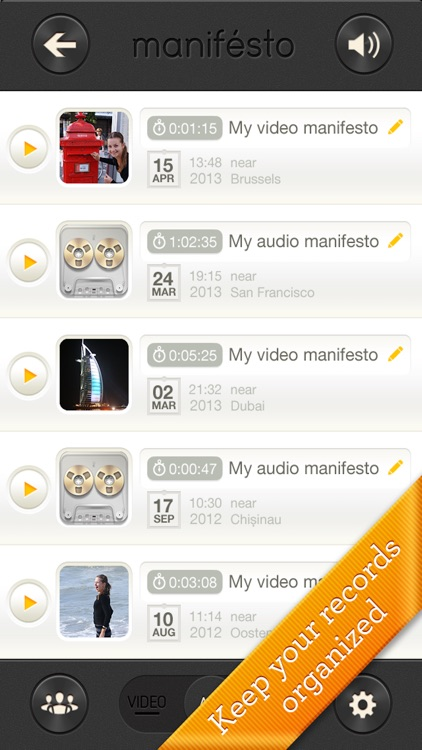 Manifesto - fast instant video & voice recorder screenshot-2