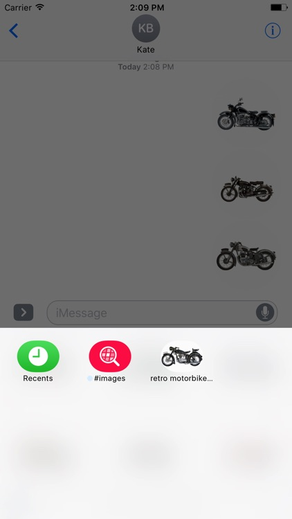 Retro Motorbike Stickers