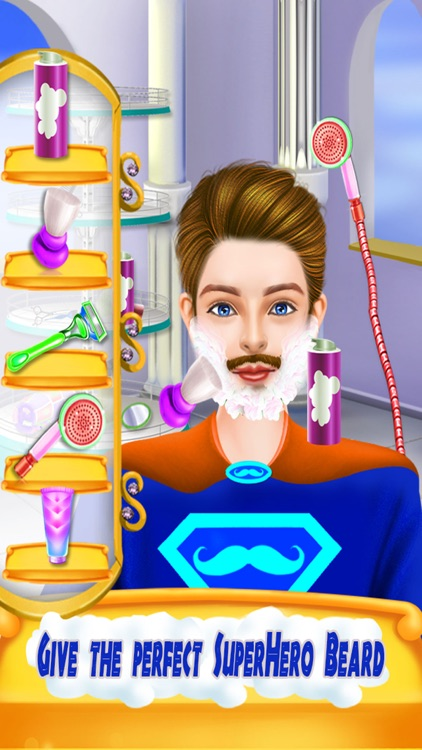 Superhero Beard Shave Salon