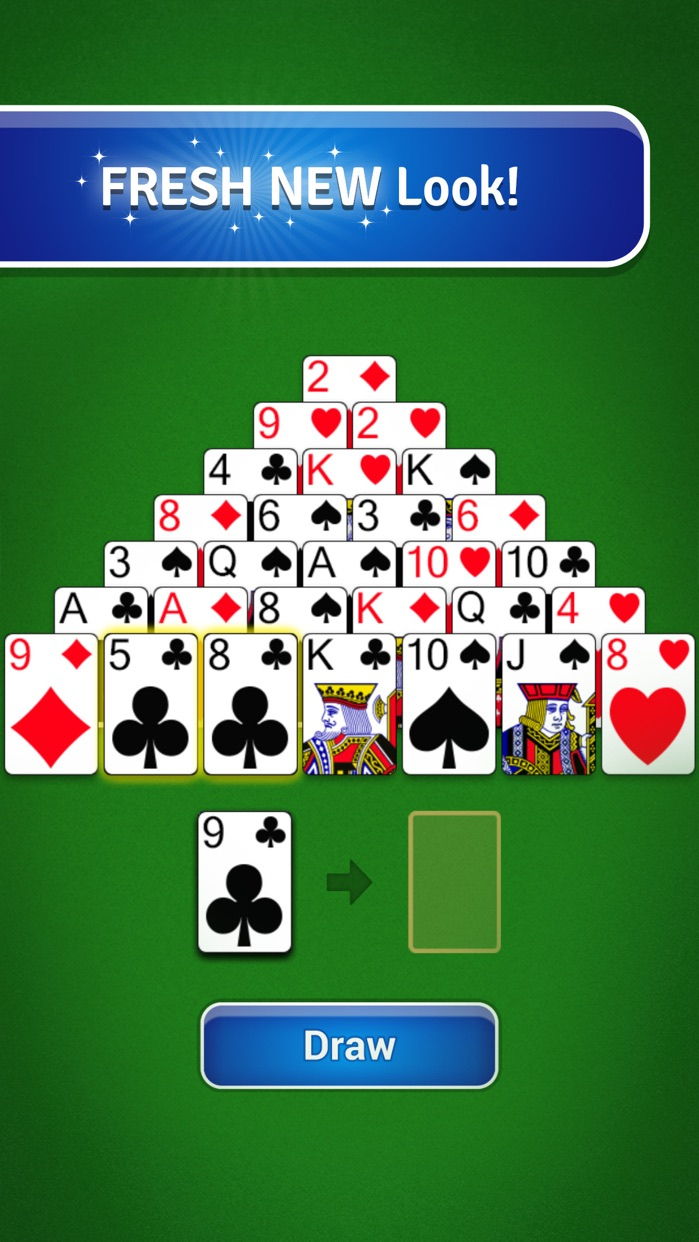 Pyramid Solitaire - Classic Card Game Screenshot