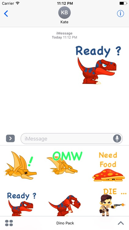 Say it as Dino Stickers