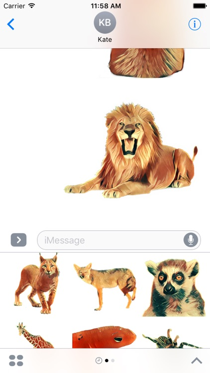 Animals Collection Stickers for iMessage screenshot-4
