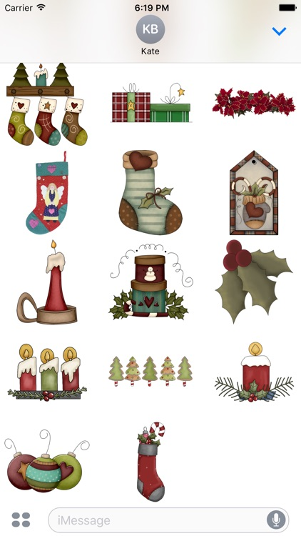 Christmas Stickers #4 for iMessage screenshot-3