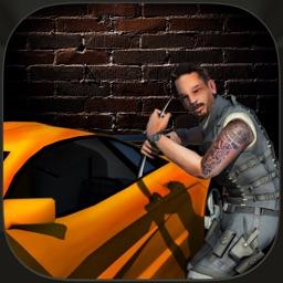 Las Vegas City Traffic Auto Theft Police Car Chase