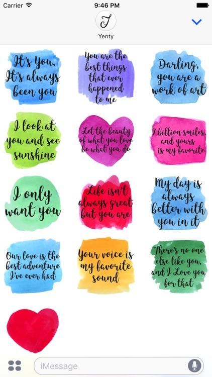 Watercolor Love Messages screenshot-4