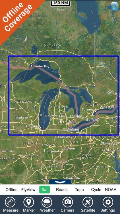 US Great Lakes GPS charts fishing map Navigator screenshot-4