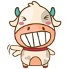 Moobee the chubby fat cow for iMessage Sticker