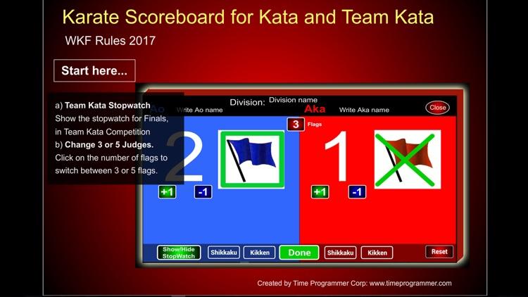 Karate Scoreboard Kata screenshot-3
