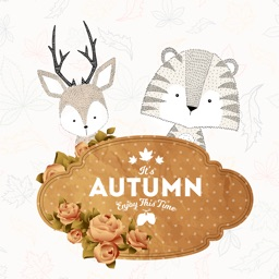 Autumn Love - Animal & Text & Elements Pack