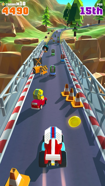 Blocky Racer - Endless Arcade Racing screenshot-0