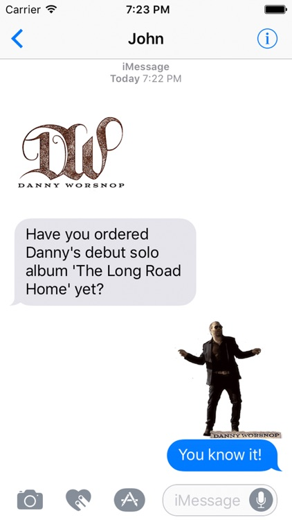 Danny Worsnop Sticker Pack screenshot-1