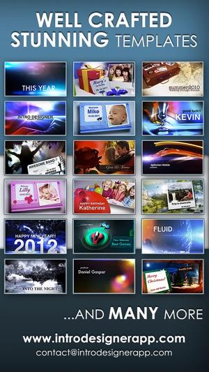 Intro Designer for iMovie and Youtube