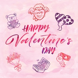 Happy Valentine's Day Greetings for iMessage PINK