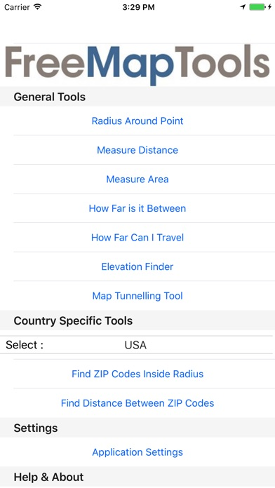 Free Map Tools - AppRecs Zip Code Radius Map Tool on zip code area maps, zip code county maps, zip code city maps,