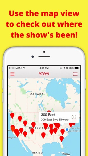 Locator for Diners, Drive-Ins, and Dives on the App Store on