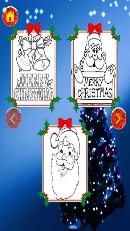 Christmas Santa Coloring Pages -Kids Coloring Book