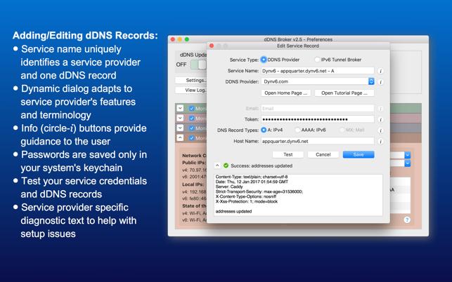 Dyndns mac client not updating