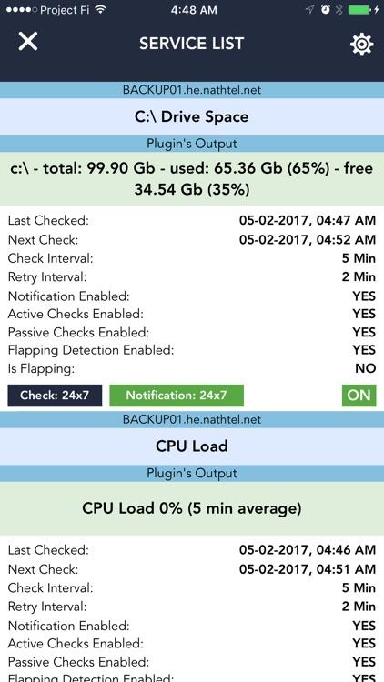 Server Alarms - Nagios Client screenshot-4