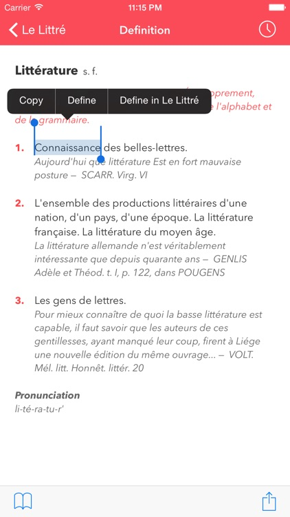 Le Littré French Dictionary screenshot-2