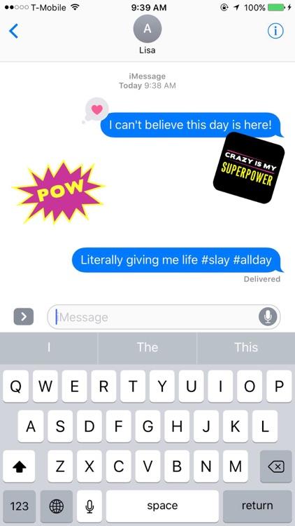 AJ Mendez Brooks Crazy Is My Superpower Stickers screenshot-4