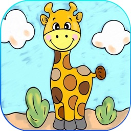 Coloring Book Cute Animals for kids