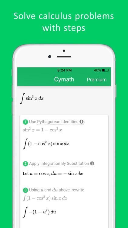 Cymath - Math Problem Solver and Homework Help screenshot-4