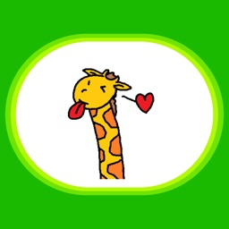 Funny Giraffe Stickers by Design73 for iMessage