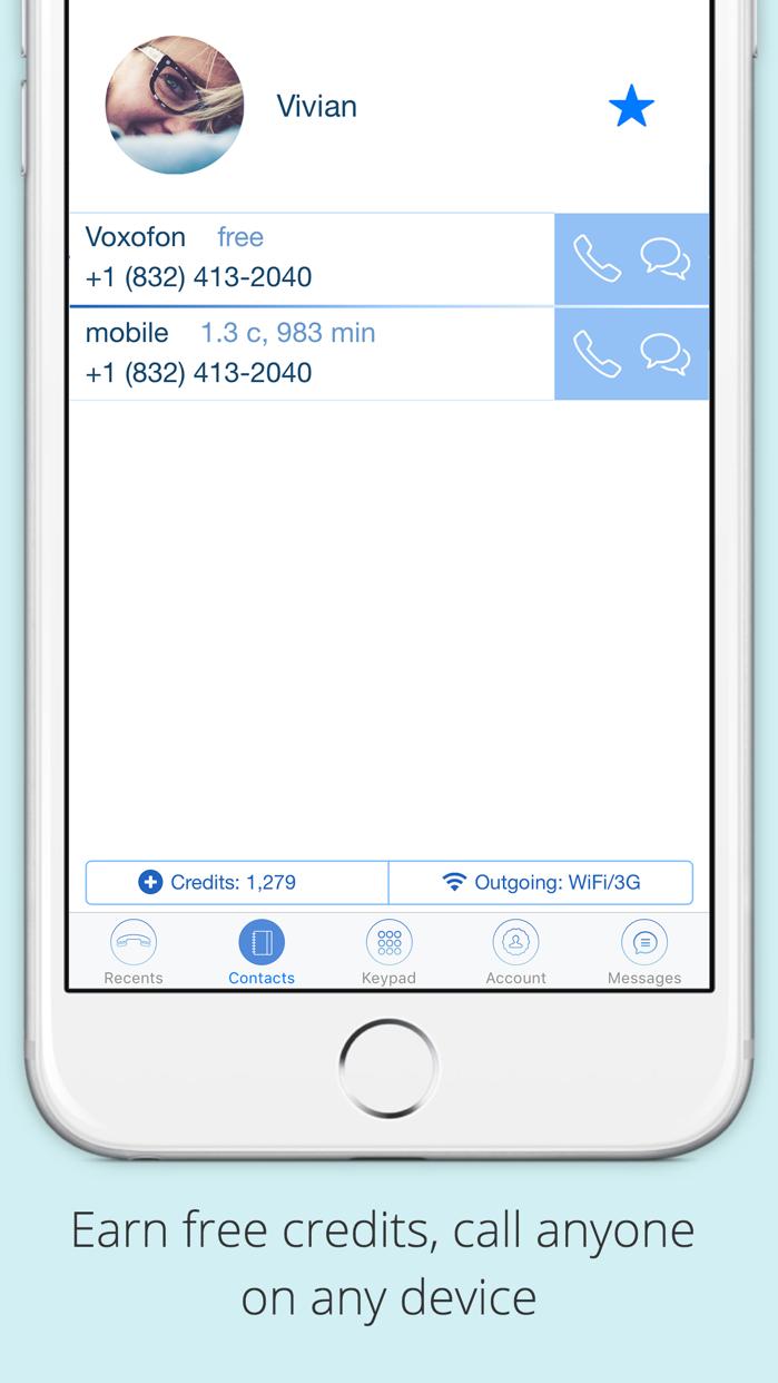 Voxofon: International Calling App, Texting, WiFi Screenshot