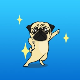 Animated The Funny Pug Expression Stickers