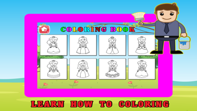 Princess Kids Coloring Book For Girl - 48 Pages screenshot three