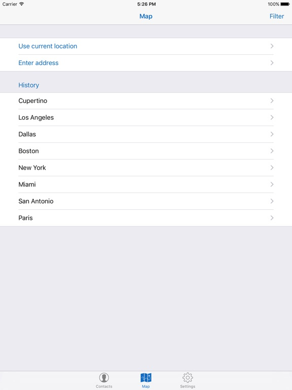 Map For Contacts Screenshot