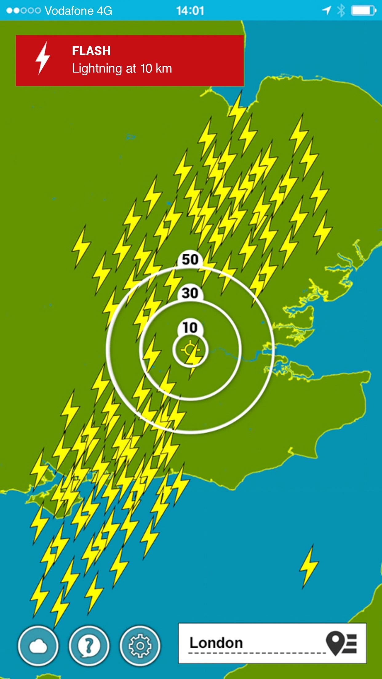 Lightning Alarm with worldwide lightning radar Screenshot