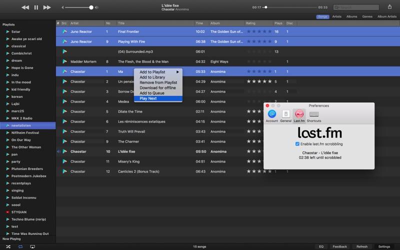 Gear Music Player Screenshots
