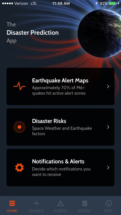 Screenshot #1 for Disaster Prediction App