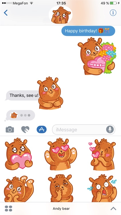 Bear stickers for iMessage