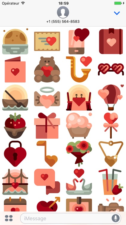 Love stickers pack for valentine's day