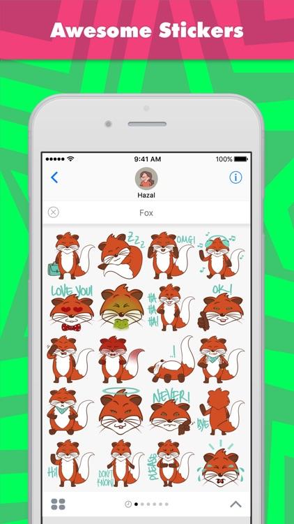 Fox stickers by Hazal
