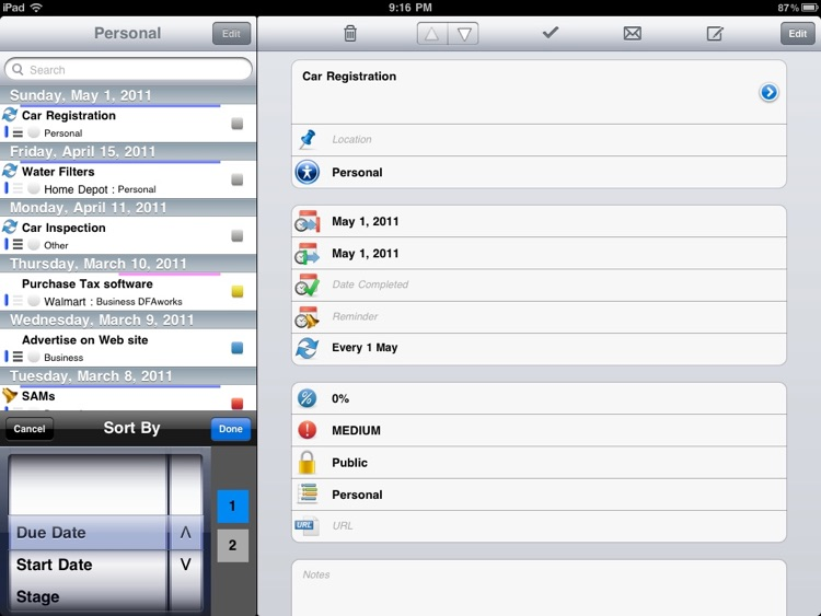 eTask for iPad
