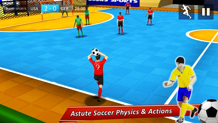 Indoor Soccer 17: Play Futsal football in arena 3D