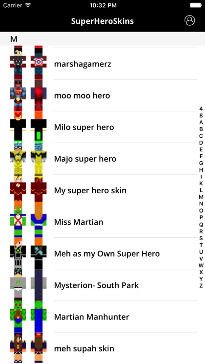 SuperHero Skins For The Minecraft Pocket Edition
