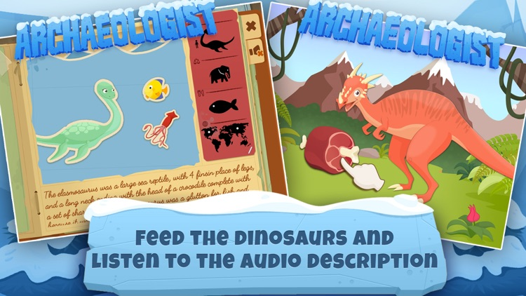 Archaeologist Dinosaur - Ice Age - Games for Kids