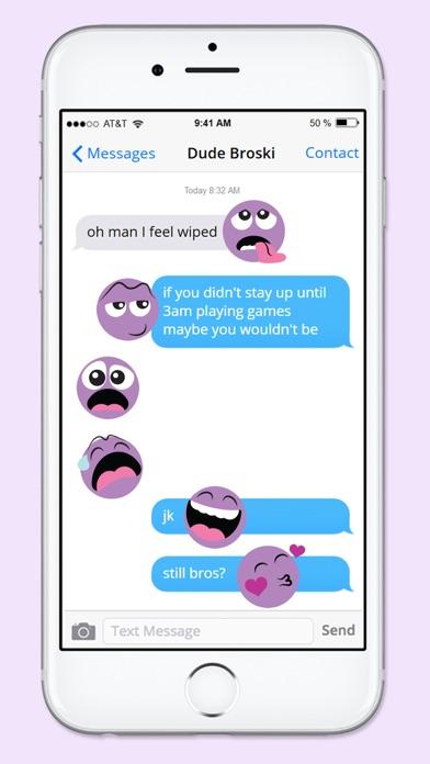 Purple People Emojis Sticker Pack screenshot two