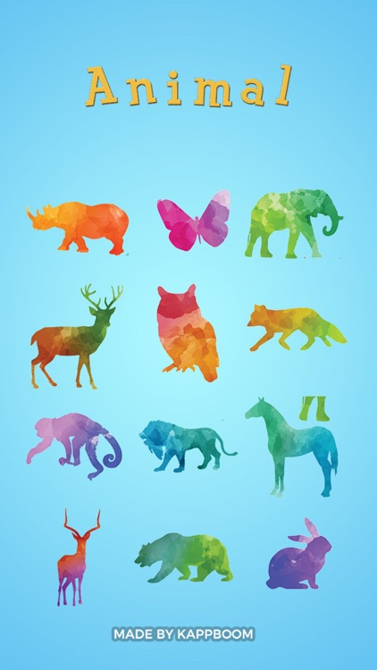 Colorful Animal Stickers by Kappboom