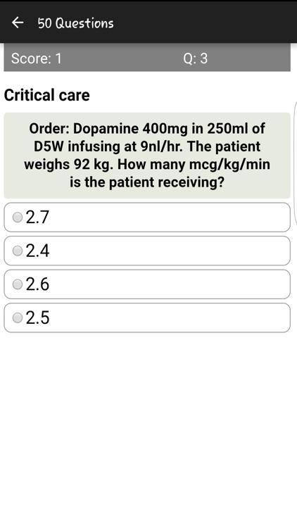 Injection Drug Dosages Quiz screenshot-3