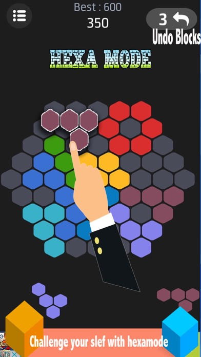 BOX X ! Fit It Hexa Word Puzzle Game
