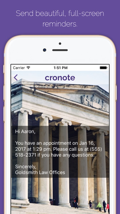 Cronote Reminders