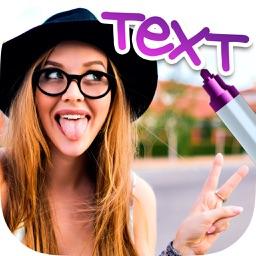 Write text on photos
