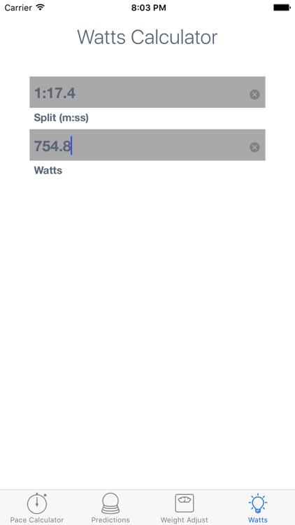 ErgCalc - Split Calculator screenshot-3