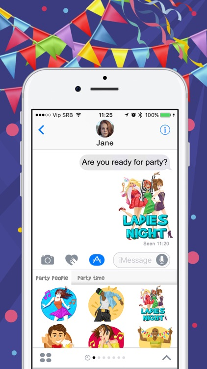 Party Time Stickers for iMessage – Fun.ny App screenshot-3