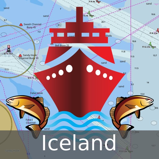i-Boating:Iceland Marine Charts & Navigation Maps